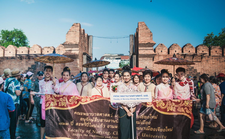 ขบวนแห่สรงน้ำพระพุทธสิหิงค์และพระพุทธรูปสำคัญจังหวัดเชียงใหม่ งานประเพณีสงกรานต์ ประจำปี 2561